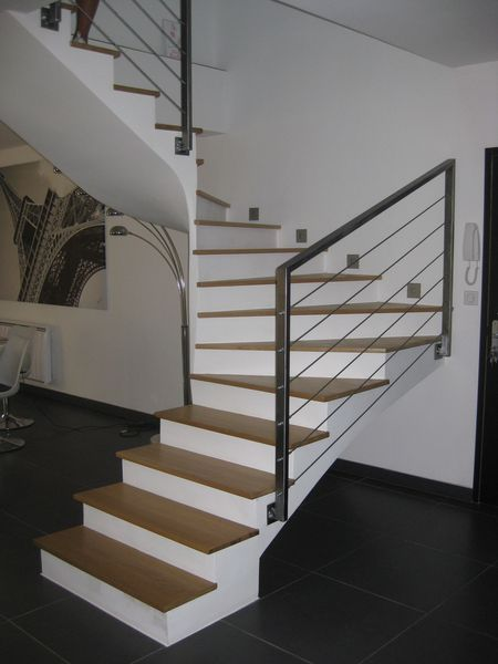 Rampe escalier on pinterest architecture stairs and modern houses - Garde corps corde escalier ...